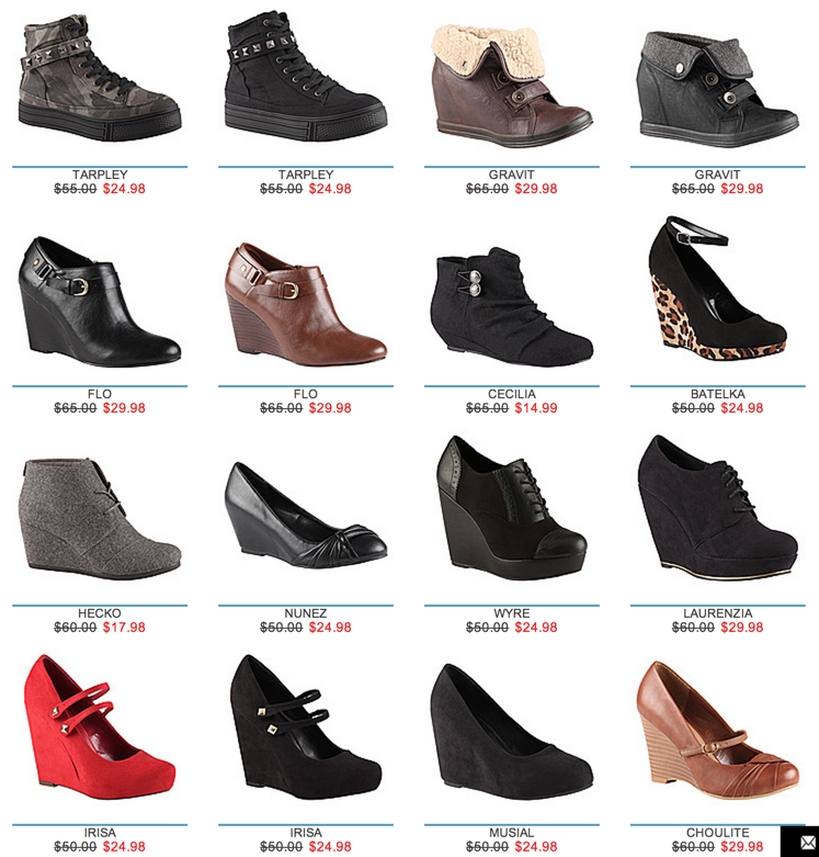online clothing stores women shoe brands list